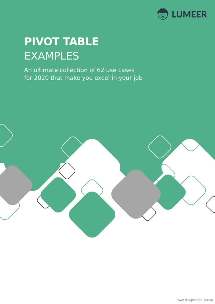 pivot table examples e-book preview